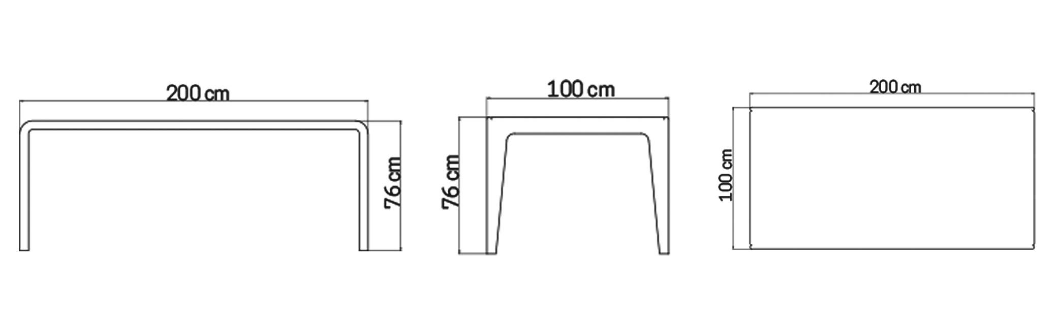 Mesa Comedor Rect - Skyline Design